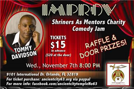 Shriners Comedy Jam w/ Tommy Davidson